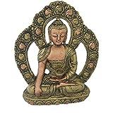 Divya Mantra Gautam Buddha Wall Hanging In Antique Green Finish