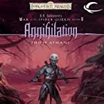 Annihilation: Forgotten Realms: War of the Spider Queen, Book 5 (       UNABRIDGED) by Philip Athans Narrated by Rosalyn Landor