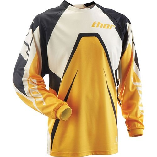 Thor MX Phase Youth Boys Dirt Bike Motorcycle Jersey - Color: Citrus, Size: Large