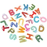 Generic Baby Kid Wooden 26 Letter Alphabet Number Fridge Magnet Sticker Educational Toy