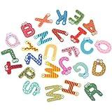 Generic Baby Kid Wooden 26 Letter Alphabet Number Fridge Magnet Sticker Educational Toy