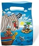 6 Sachets fête Playmobil Pirate - Anniversaire Enfant - Goûter enfant