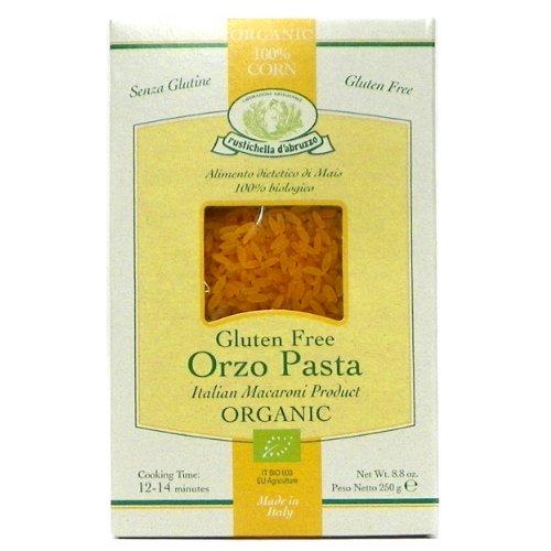 Rustichella d'Abruzzo Gluten Free Organic Corn Orzo Pasta, 8.8 oz