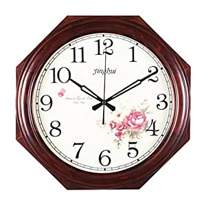 16 2 country style floral octagonal wall - Country style wall clocks ...