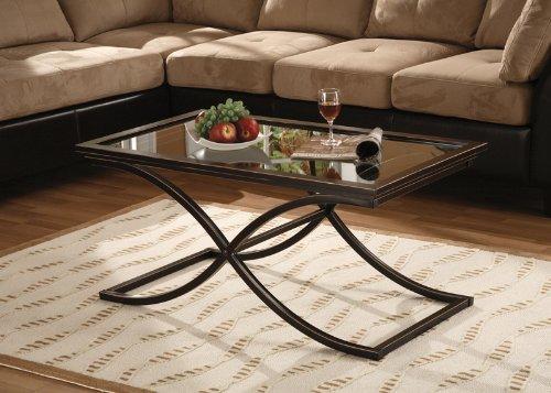 Southern Enterprises - Vogue Cocktail Table Black with Copper - CK9940
