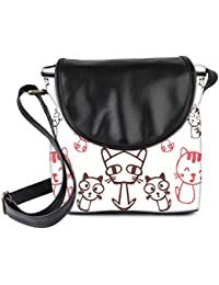 Snoogg Kitties Cute Womens Sling Bag Small Size Tote Bag