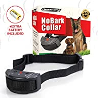 No Bark Dog Collar for Small, Medium and Large Dogs – EXTRA BATTERY Included – Pet Friendly No Harm…