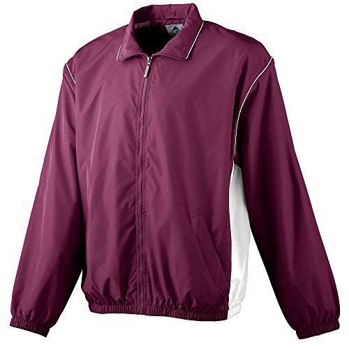Boys' Micro Poly Full-Zip Jacket Augusta Sportswear L Maroon/White