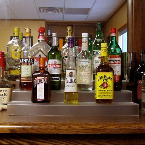 how to build a liquor shelf. Black Bedroom Furniture Sets. Home Design Ideas
