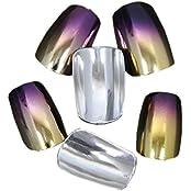 Beauties Factory Nail Art 100pcs Chrome Nails Full False Tips V Grape