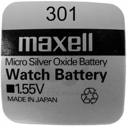 10 X PILE Maxell Batterie Originale 301 SR0043SW 1,55 V Boutons Pile Oxyde D'argent Maxell Livraison 48/72H Felixmania®