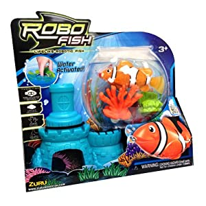 Zuru robo fish with castle and coral assorted for Zuru robo fish