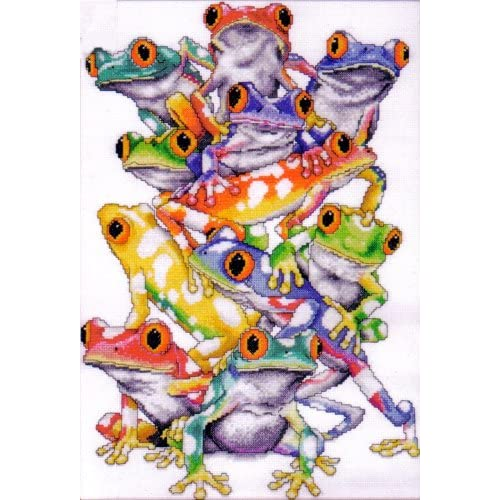 Cross Stitch Kit Frog Pile From Design Works