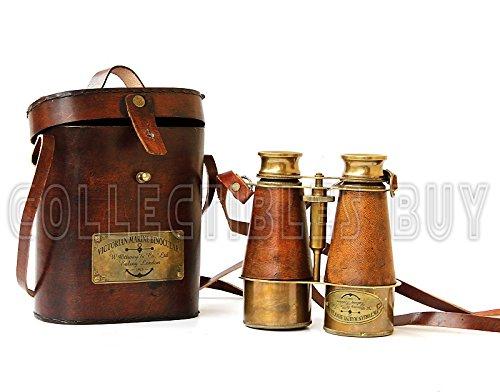 Victorian Marine Brass Leather Binocular Sailor Instrument London 1915 6