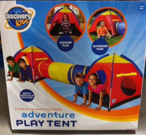 Discovery Kids 3Pc Indoor/Outdoor Adventure Play Tent Overview & Discovery Kids 3Pc Indoor/Outdoor Adventure Play Tent - Disney ...