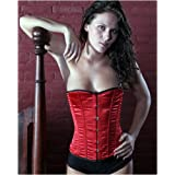Shaper Corset Red Satin Victorian Vintage Training Corset Lace Up Waist Cincher SC80009C