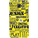 For Samsung Galaxy On5 (2016) Word Pattern ( Word Pattern, Design, Thinking, Good Quotes, Yellow Background ) Printed Designer Back Case Cover By FashionCops