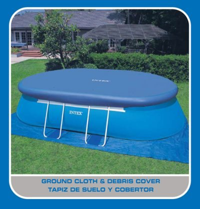 intex oval frame pool set 18 feet by 10 feet by 42 inch. Black Bedroom Furniture Sets. Home Design Ideas