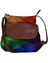 Rainbow Rain 2440 Obo, Ethnic Hobo Bag, Aztec Hobo Bag, Native Style Bag, Large Hobo Bag, Zipper Closure Bag,...