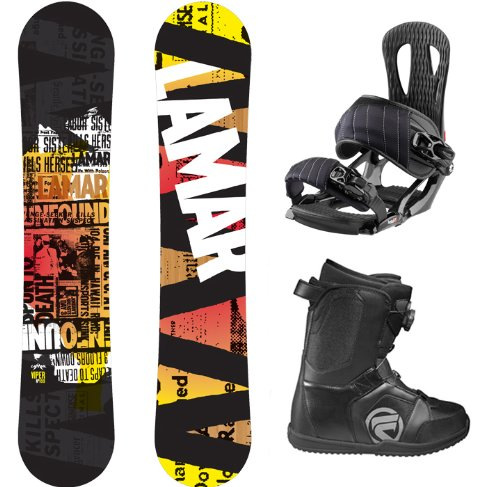 Lamar Viper Complete Snowboard Package with Head NX One Bindings and Flow Vega BOA Men's Boots Board Size 157 Wide