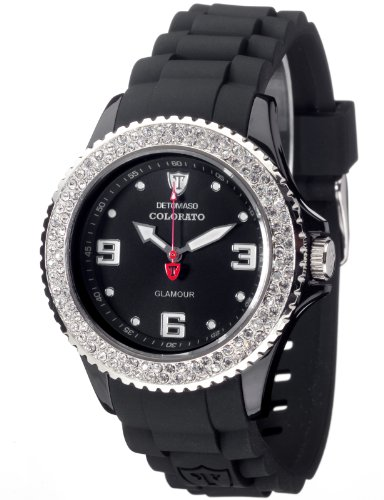 Detomaso Damen-Armbanduhr  COLORATO DT3008-B Ladies Analog Quarz Silikon DT3008-B