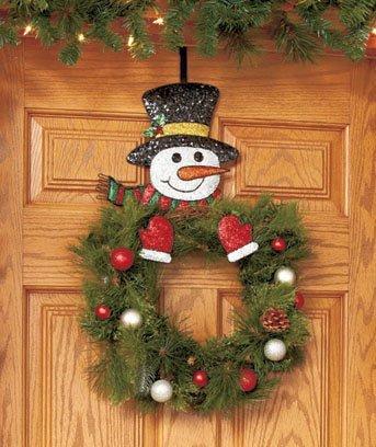 how to hang christmas wreath on metal door