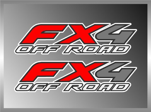"FORD TRUCK FX4 OFF ROAD RACING VINYL DECAL BUMPER STICKER 2 OF 2"" X 8"""