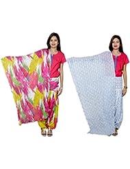 Indistar Women's Cotton Patiala Salwar With Dupatta Combo (Pack Of 2 Salwar With Dupatta) - B01HRKAFUK