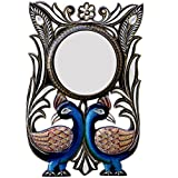 Ghanshyam Art Wood Peacock Wall Mirror (30.48 Cm X 4 Cm X 45.72 Cm, GAC052)
