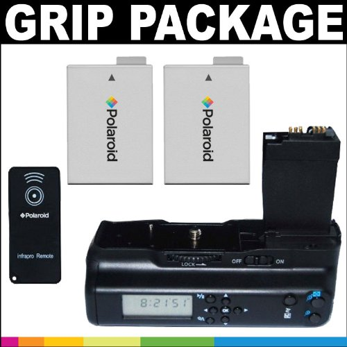 Polaroid Premium Package: Polaroid Wireless LCD Display Performance Battery Grip For Canon Eos T2i, T3i Digital Slr Camera + Polaroid Remote Shutter Release + Polaroid High Capacity Canon LPE8 Rechargeable Lithium Replacement Battery (X2)