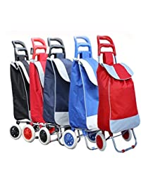 Folding Essential Shopping Trolley-Luggage-Bag-With-2Wheels (Only Any 1 Pcs Trolley & Bag) (Color May Be Very)... - B06WGT3LDZ