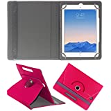 Acm Rotating 360° Leather Flip Case For Apple Ipad Air 2 Tablet Cover Stand Dark Pink