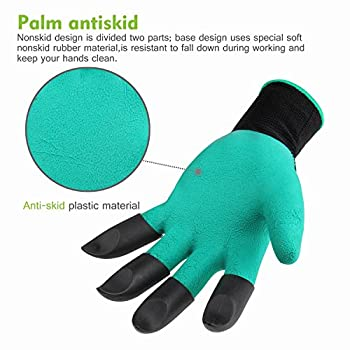 Garden Genie Gloves,FUTRE Genie Gloves With Claws for Digging & Planting (Claws on EACH Hand)