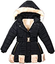 Girl39s Faux Fur Hooded Winter Jacket Warm Coat Thickened Long Down Jacket
