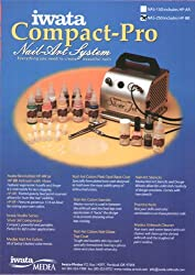 New Iwata NAIL ART AIRBRUSH &amp; COMPRESSOR-Paint-Stencil