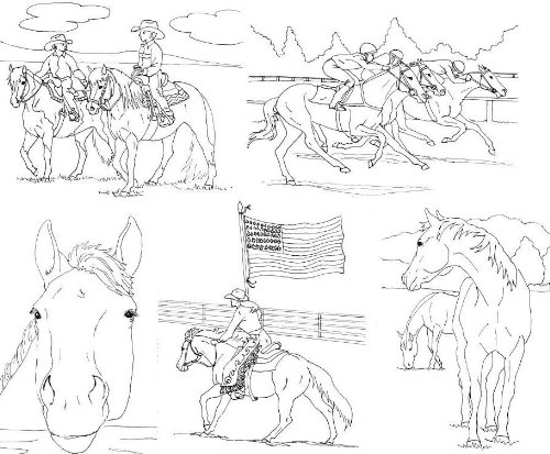 barrel racing horse coloring pages realistic coloring pages