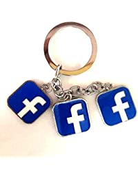 MM Facebook Bunch Silver Color Key Chain