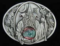 Wizard With Crystal Ball (Dragon In Crystal Ball) Belt Buckle