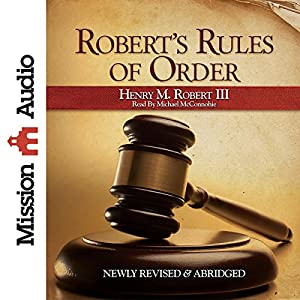 Robert's Rules of Order Audiobook