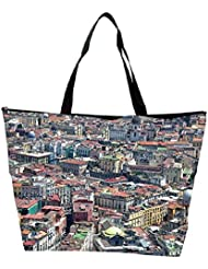 Snoogg Abstract Buildings Designer Waterproof Bag Made Of High Strength Nylon - B01I1KLKAO