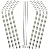 Generic 8 Plus3 : 2017 High Quality Eco Friendly 8Pcs Stainless Steel Metal Drinking Straw Reusable Straws + 3...