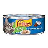 Friskies Wet Cat Food, Classic Pate, Supreme Supper, 5.5-Ounce Can, Pack of 24