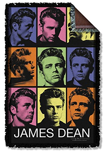 James Dean Color Block Woven Throw DEA489TAP
