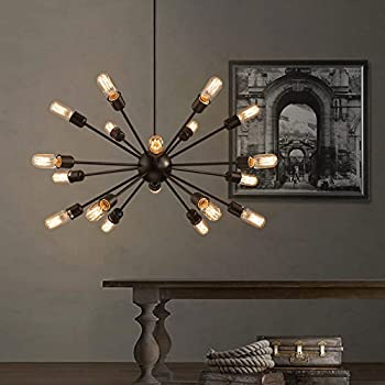 Electro_BP;Vintage Metal Large Chandelier With 18 Lights Painted Finish