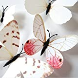 Amaonm® 24pcs 3d Vivid Special Man-made Lively Butterfly Art DIY Decor Wall Stickers Decals Nursery Decoration...
