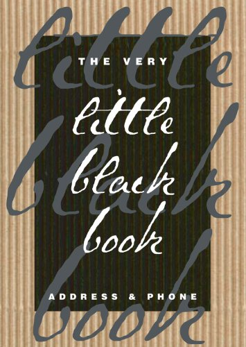 The Very Little Black Book: Address & Phone (Refrigerator Magnet Books)