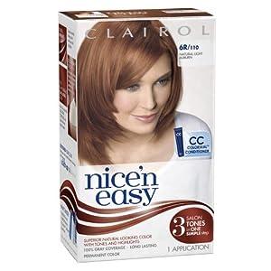 com clairol n easy hair color 110 natural light auburn 1 kit of 3