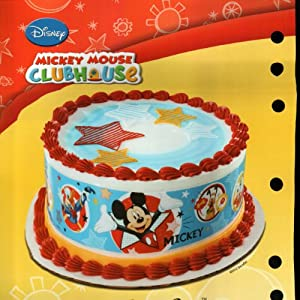 Edible Cake Images Nj : Amazon.com: Mickey Mouse Designer Prints Edible Cake Image ...
