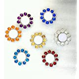 Narual Handicrafts Designer Crystal Candle Holder (Set Of 7 Pcs, Color: Multicolor)