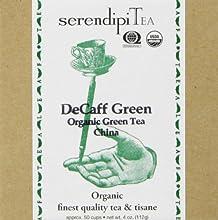 SerendipiTea De-Caff Green Organic Decaffeinated Greentea 4-Ounce Boxes Pack of 2